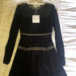 """DVF """"Celina"""" textured knit fit and flare dress NWT"""